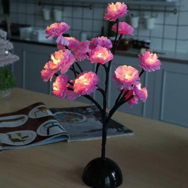 Flower Bulb 20pcs Table Lamp 12V, Pink