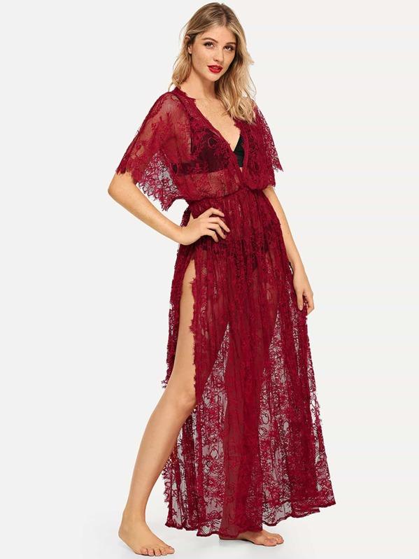 Ресницы кружева Ночное платье без комплекта белья, Nathane
