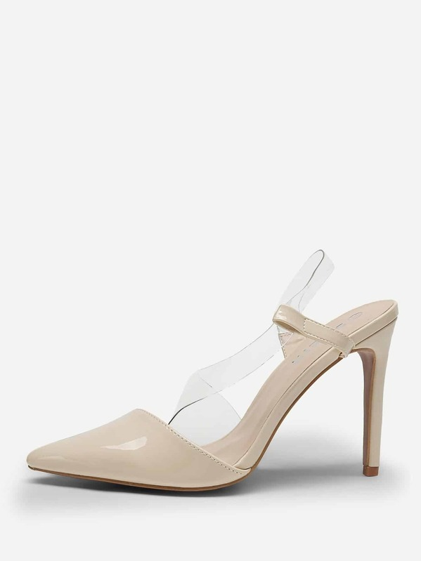 Clear Strap Stiletto Heels, null