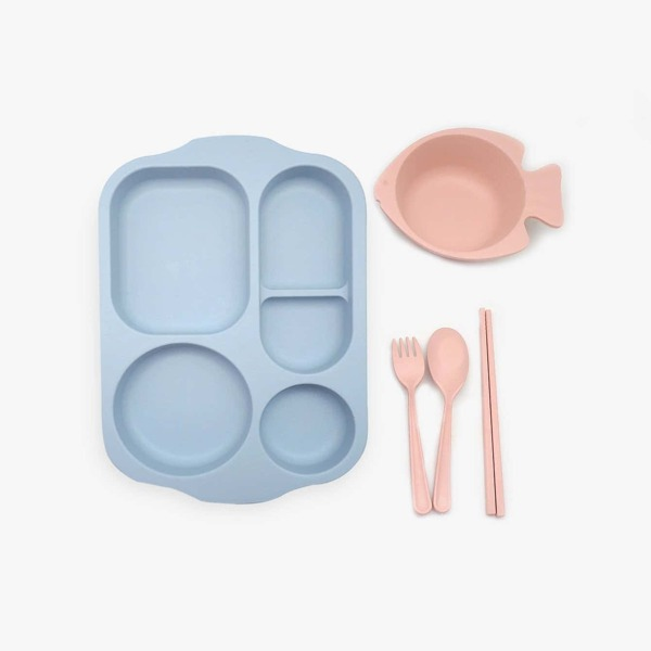 Kids Fish Design Dinnerware Sets 5pcs