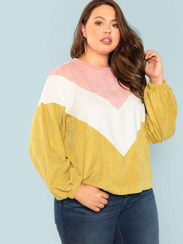 Plus Cut And Sew Sweatshirt, Bailey Carr