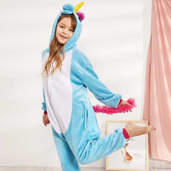 Christmas Kids Plush Unicorn Onesie