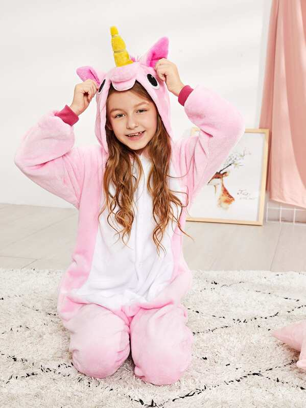 Kids Plush Unicorn Onesie