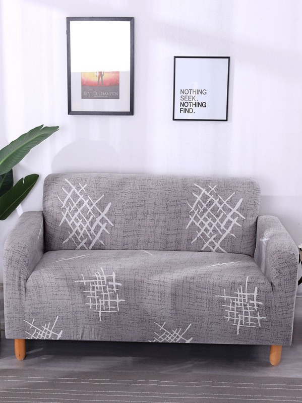 Geometric Pattern Stretchy Sofa Cover & Cushion Cover 1pc