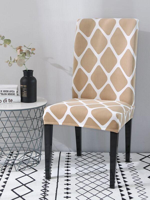 Plaid Pattern Stretchy Chair Cushion