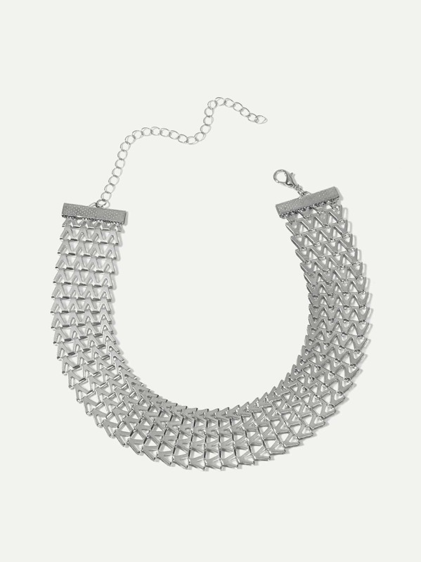 Hollow Detail Wide Choker, null