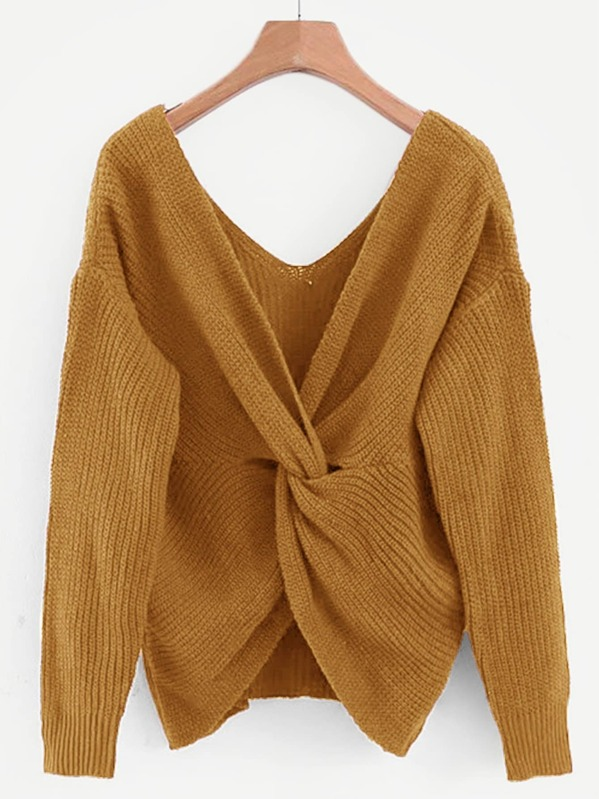 Solid Twist Sweater, null