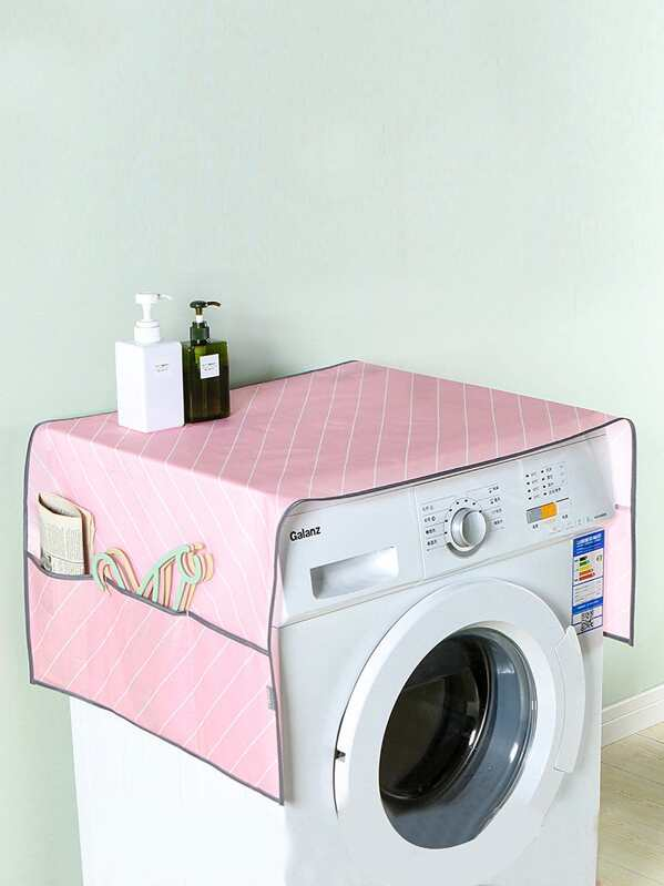 Striped Pattern Washing Machine Dust Cover
