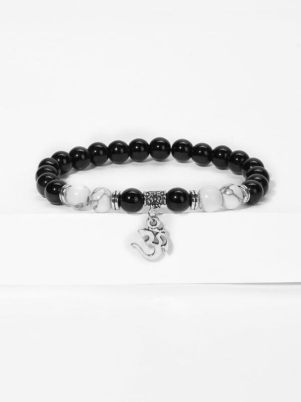 Men Totem Charm Beaded Bracelet