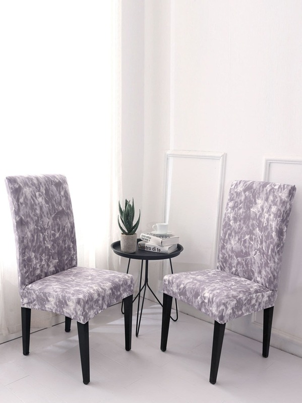 Marble Pattern Stretchy Chair Cover 1pc