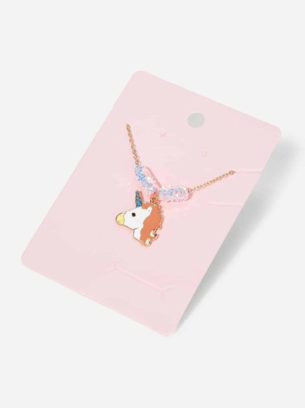 Girls Unicorn Charm Necklace, null