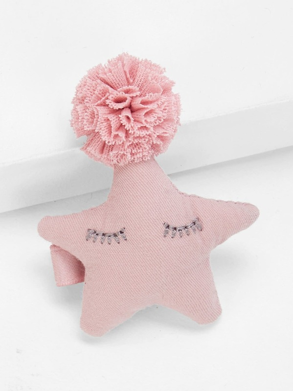 Girls Star Decorated Hair Clip 1pc
