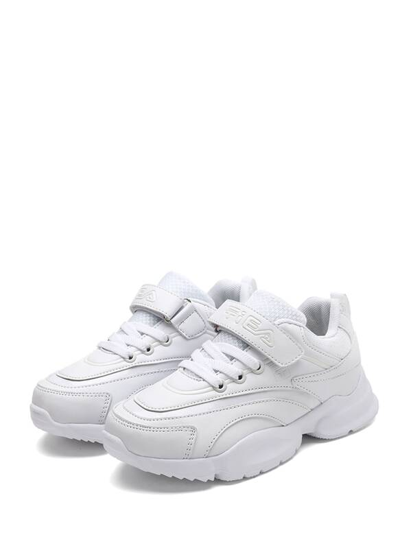 Кроссовки с шнурками и лентой для маленьких детей, null