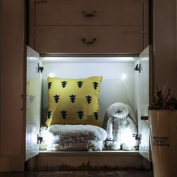 Cabinet Hinge Light 2pcs 12 V, White