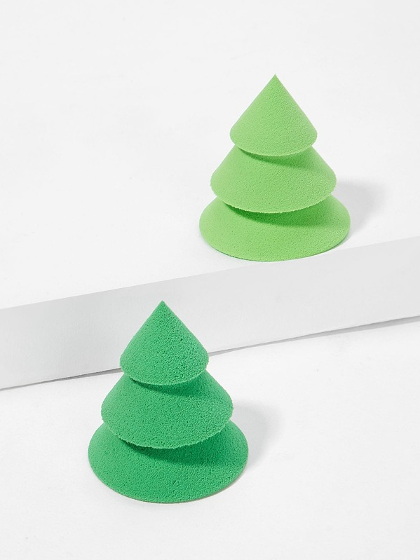 Pine Shaped Makeup Sponge 2pack, null