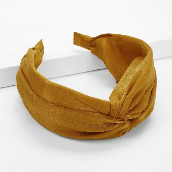 Suede Twist Headband, Yellow
