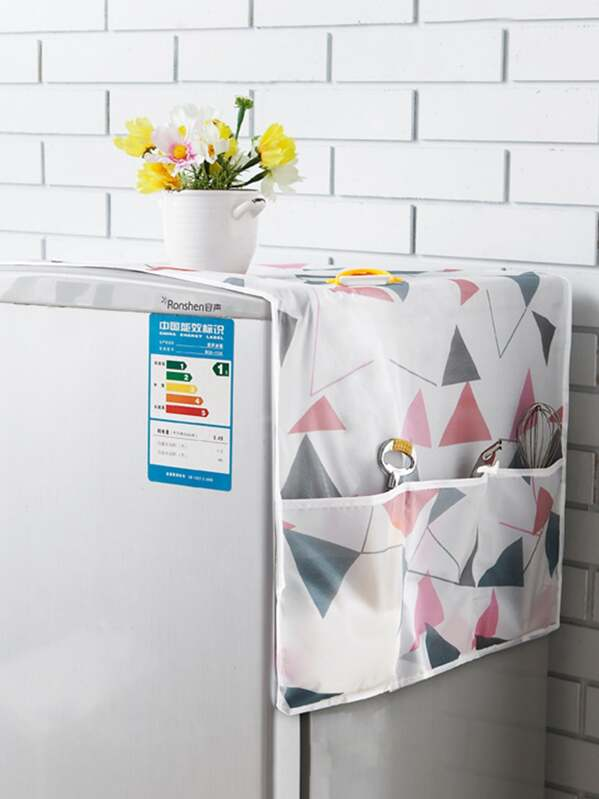 Geometric Pattern Refrigerator Dust Cover