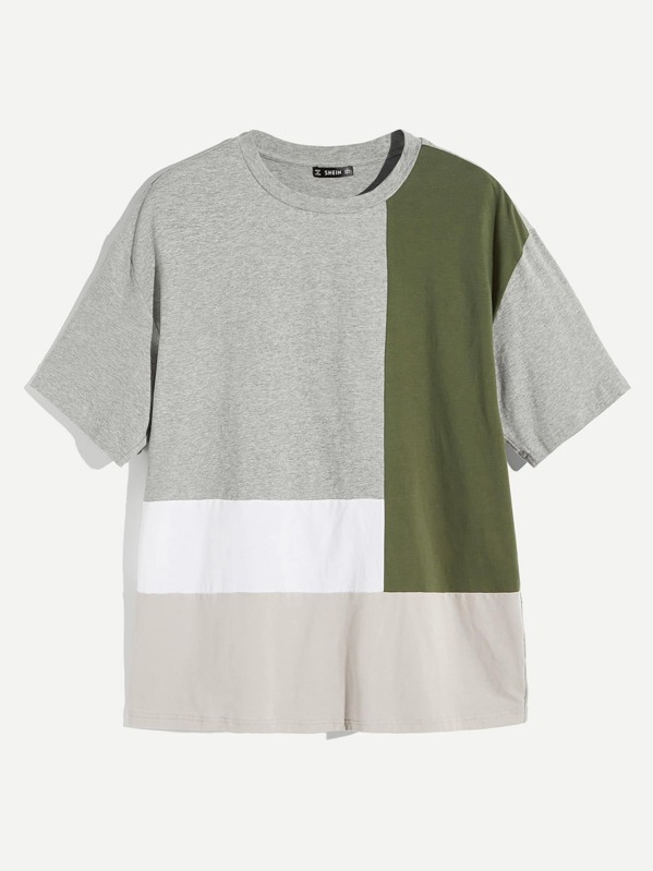 Men Cut-and-sew Short Sleeve T-shirt