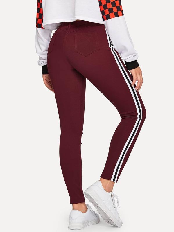 Stripe Side Skinny Ankle Jeans, DANI A