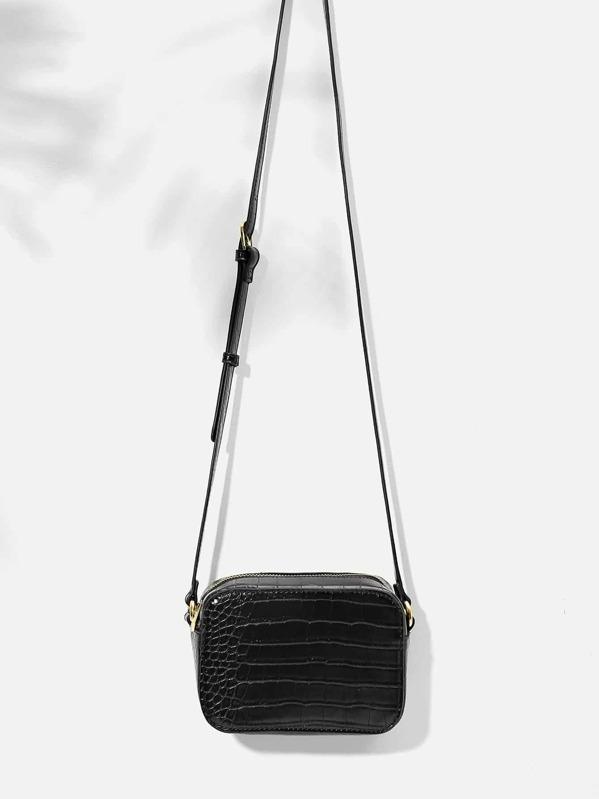 Croc Pattern Crossbody Bag