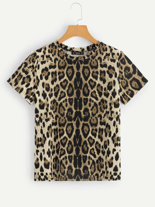 Leopard Print T-shirt, null