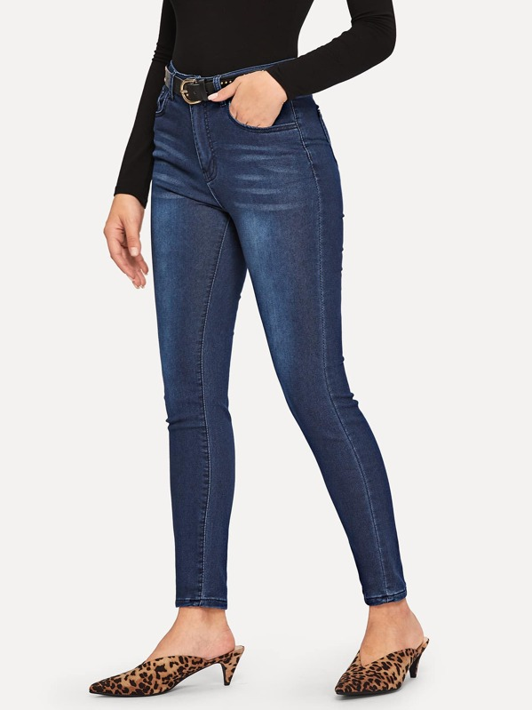 Faded Skinny Ankle Jeans, DANI A