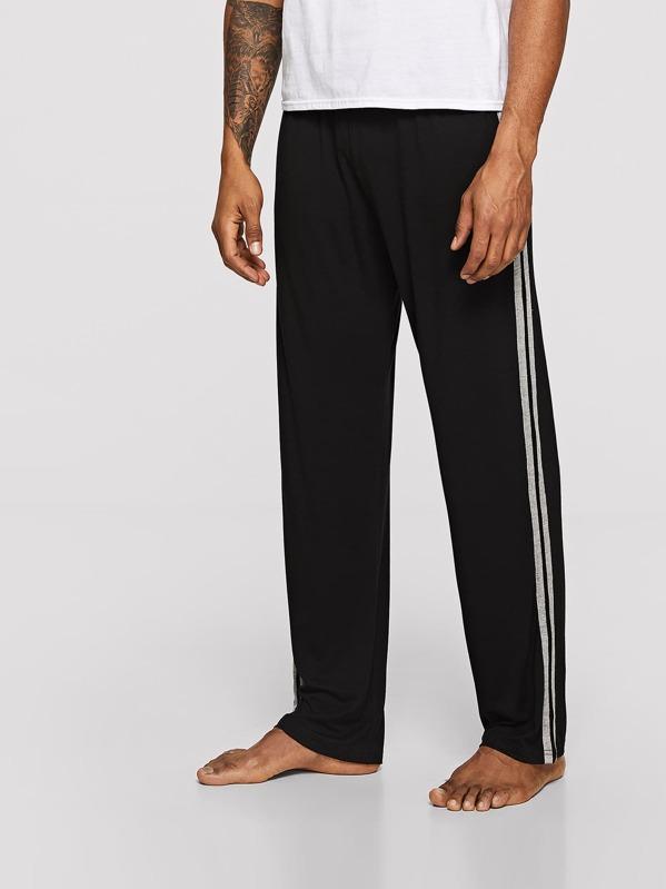 Men Contrast Stripe Sleep Pants
