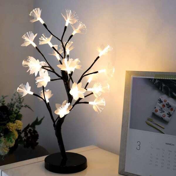 24pcs Bulb Tree Shaped Table Lamp 12V, Multicolor