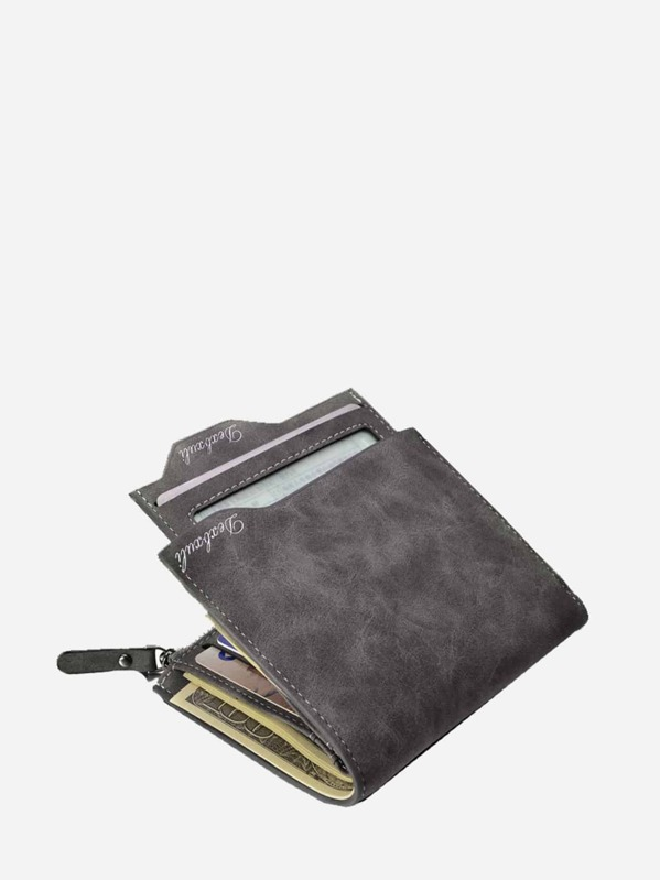 Men Fold Over Wallet With Coin Pocket, null