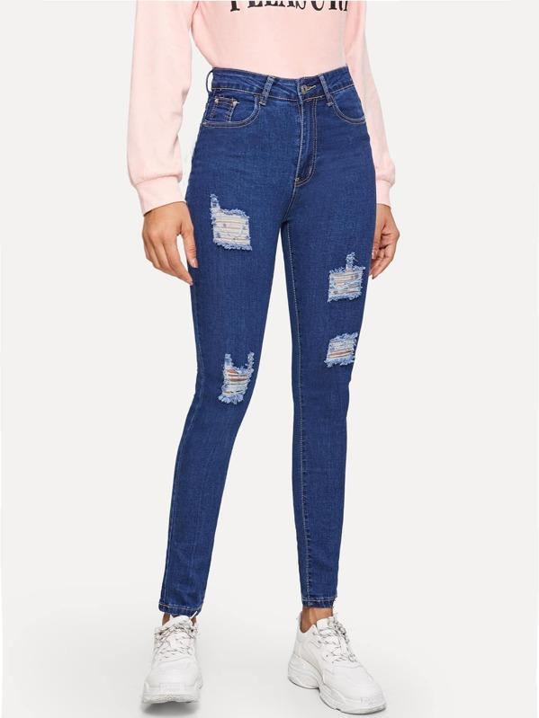 Ripped Skinny Ankle Jeans, Gigi