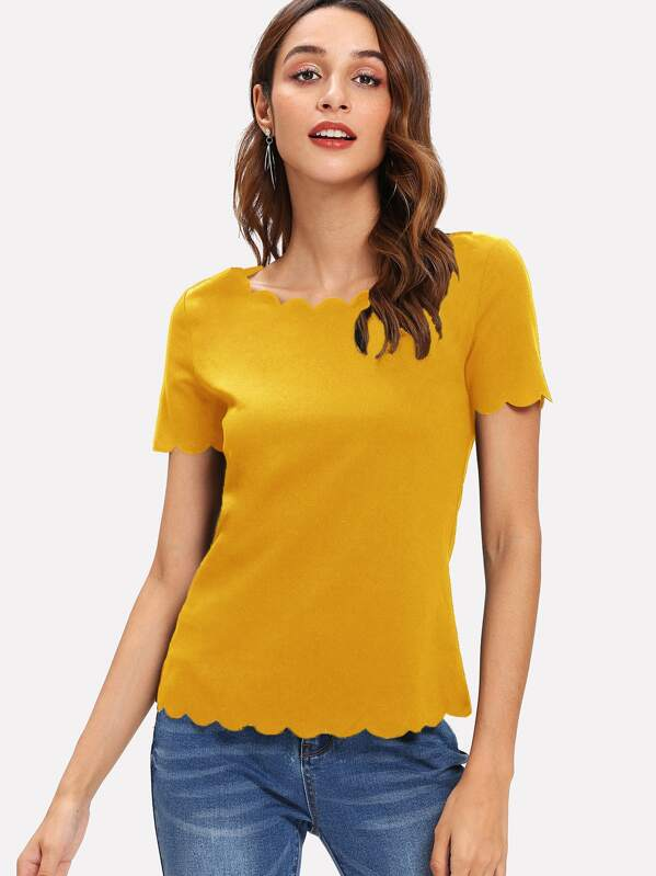Scallop Edge Solid Top