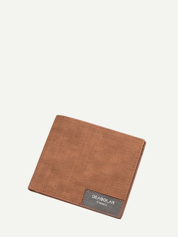 Men Fold Over Solid Wallet, null
