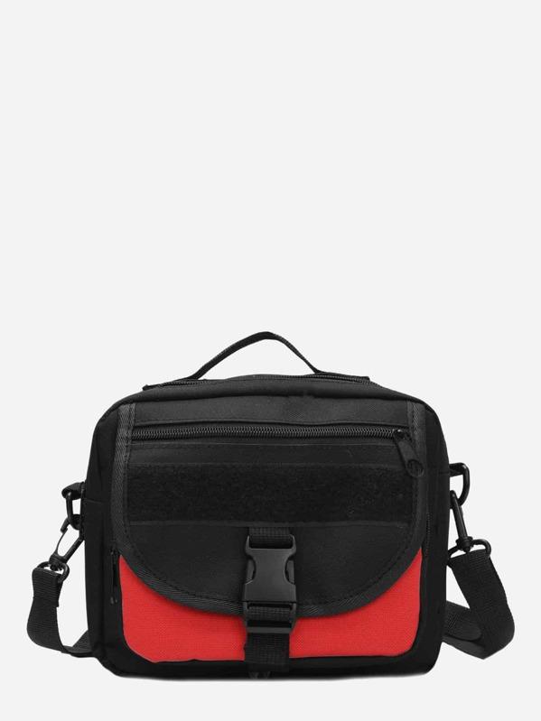 Men Two Tone Crossbody Bag, null