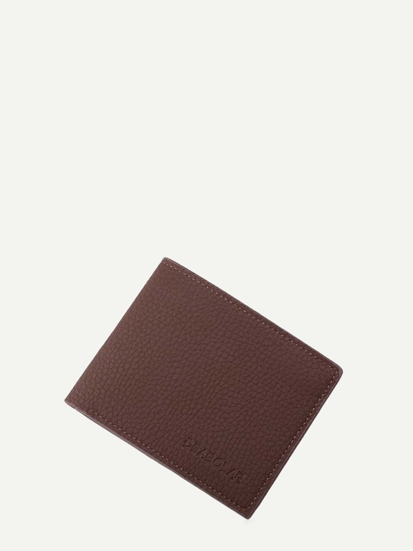 Men Pebble Detail Fold Over Wallet, null