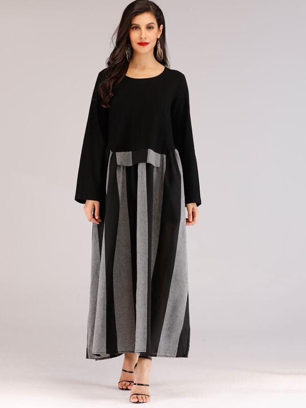 Striped Color Block Dress