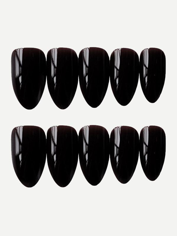 Plain Fake Nail With Double Side Tape 25pack, null