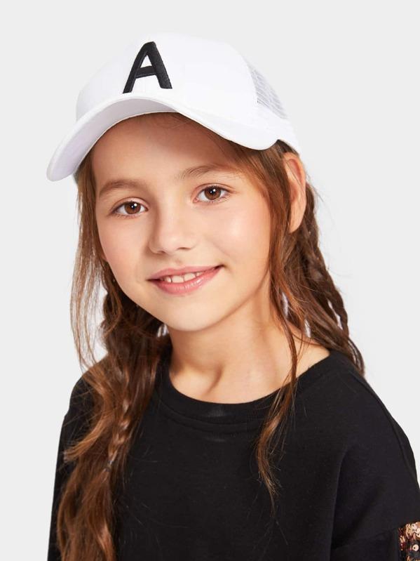 Kids Letter Embroidery Baseball Cap, null