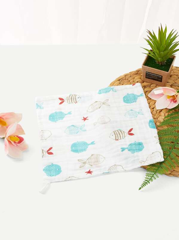 Kids Fish Pattern Handkerchief, null