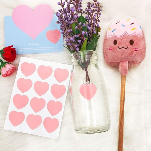 Heart Shaped Decal 12sheets
