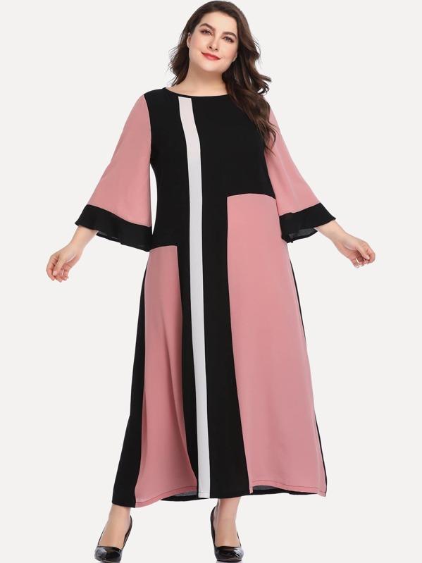 Plus Cut And Sew Panel Dress, Franziska