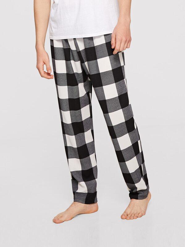 Men Plaid Sleep Pants