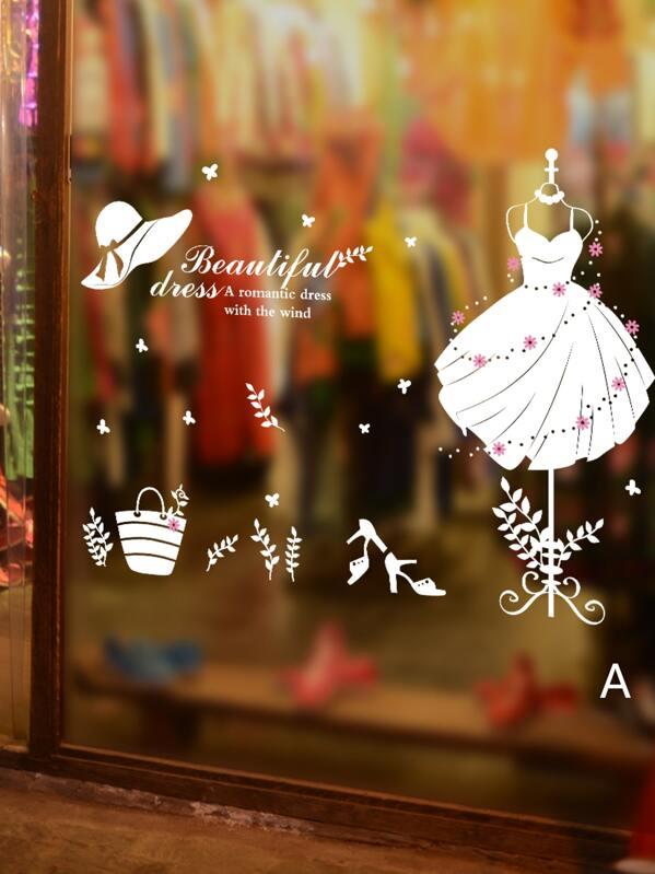 Dress & Letter Wall Sticker