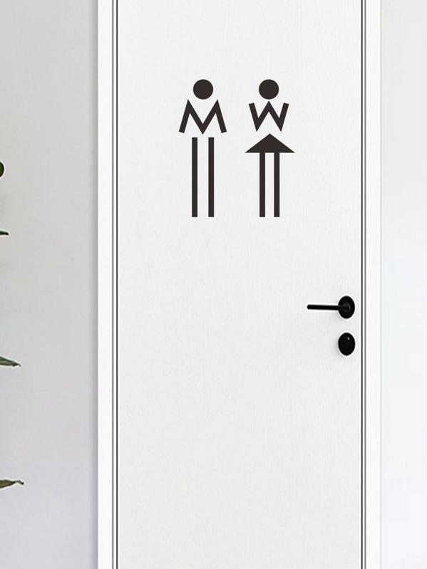 Male & Female Door Sticker