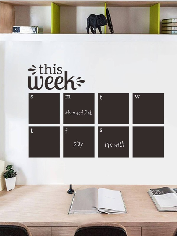 Weekly Plan Wall Sticker