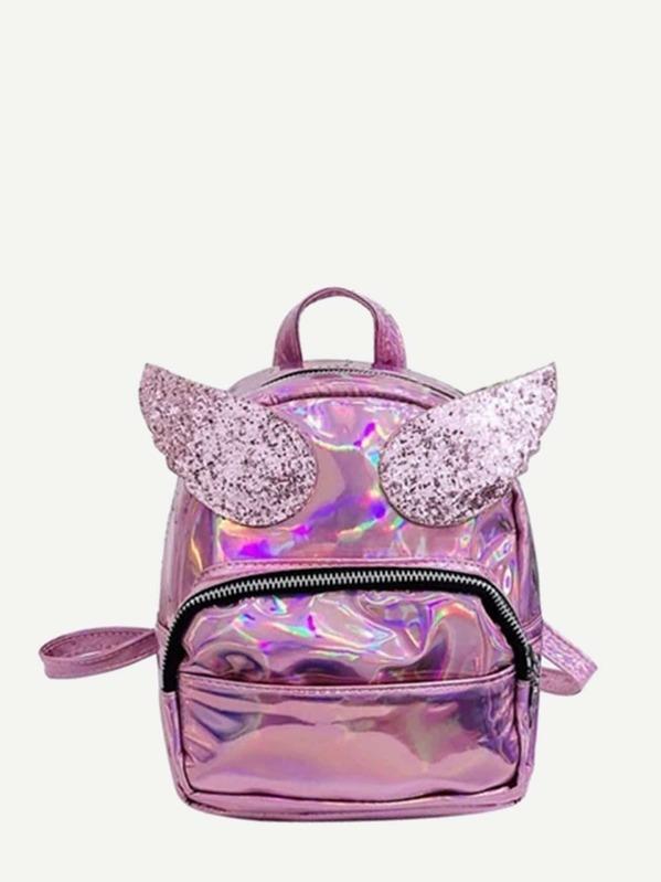 Kids Glitter Wings Decor Backpack