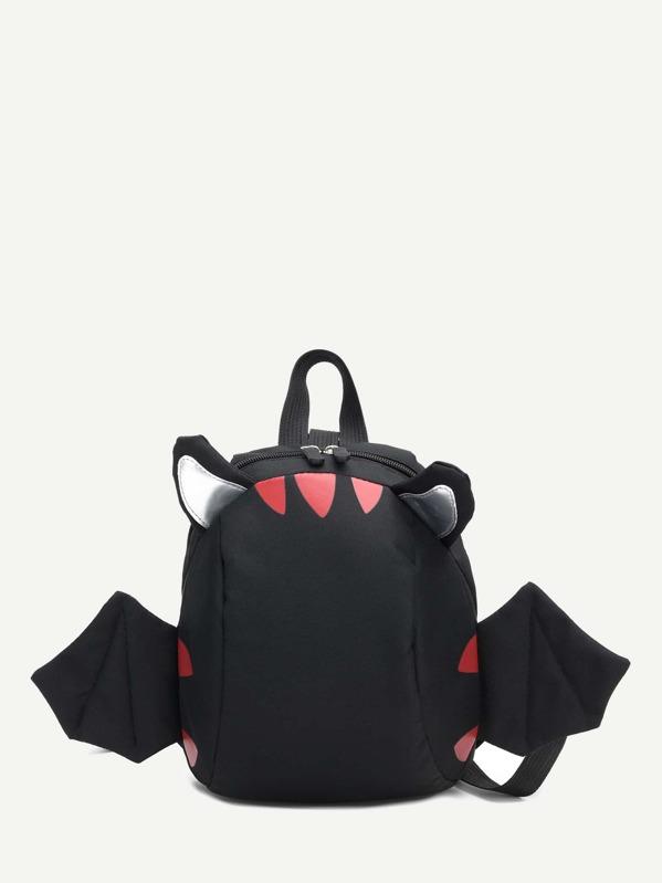 Kids Wings Decor Nylon Backpack