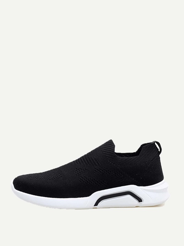 Men Slip On Knit Sneakers