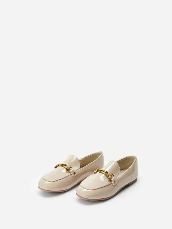 Toddler Girl Buckle Decor Loafers