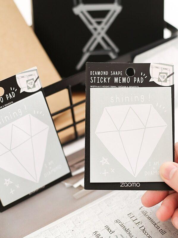 Diamond Print Sticky Note 2packs