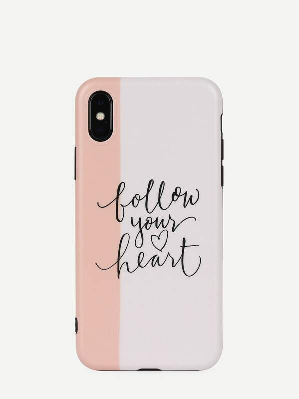 Letter Pattern iPhone Case, null
